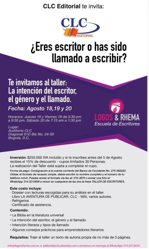 Escuela de Escritores LOGOS  RHEMA